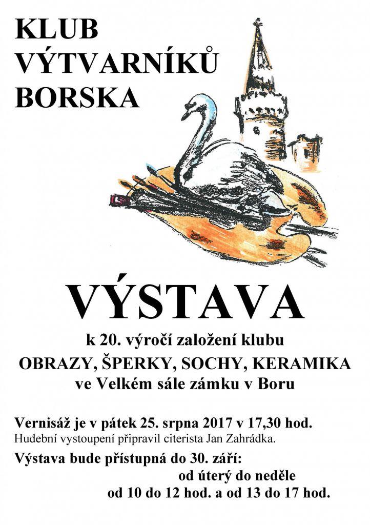 2017-08-25 Výstava k 20. výročí založení Klubu výtvarníků Borska 1