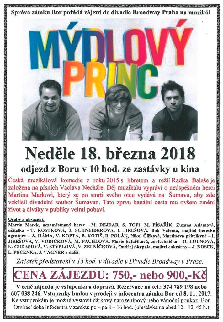 2018-03-18 Zájezd do divadla - Mýdlový princ 1