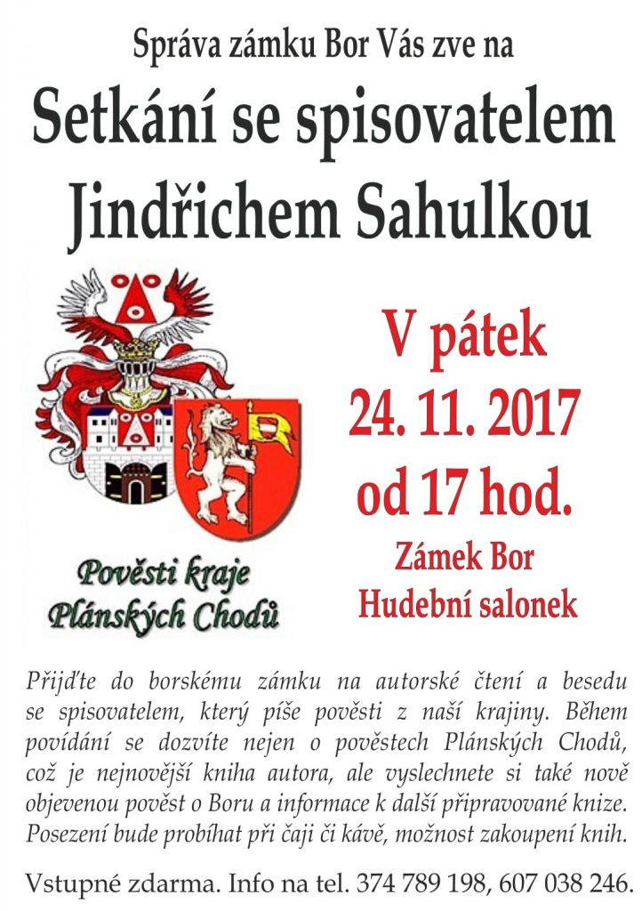 2017-11-24 Setkání se spisovatelem na zámku 1