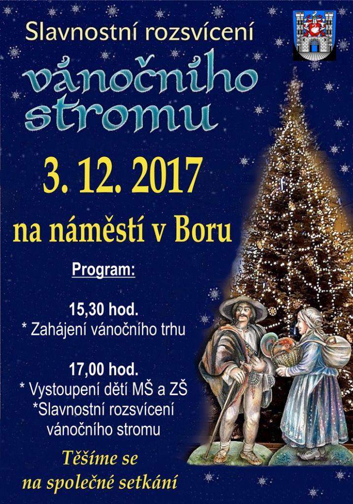 2017-12-03 Slavnostní rozsvícení vánočního stromu v Boru 1