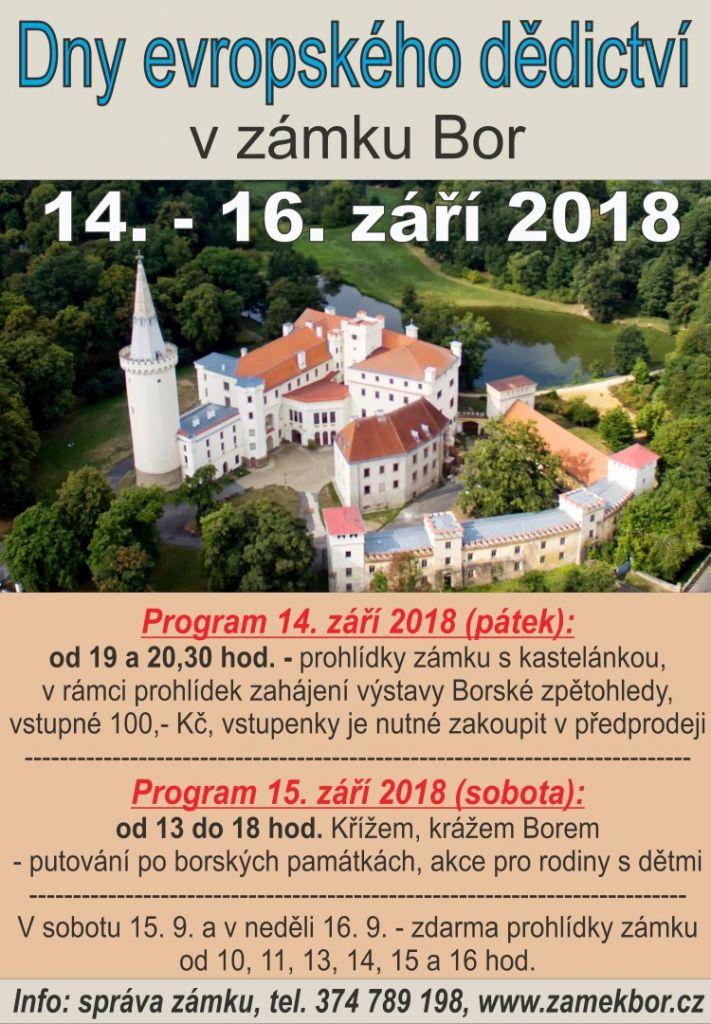 2018-09-14 Dny evropského dědictví v zámku Bor 1
