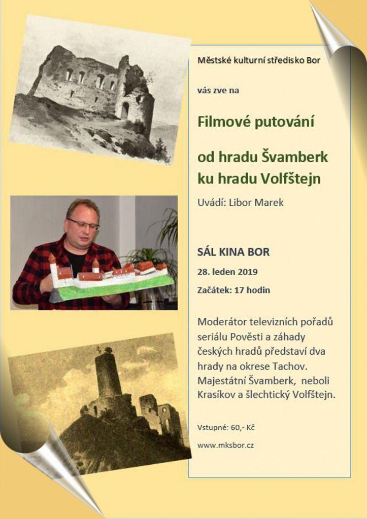2019-01-28 Filmové putování od hradu Švamberk ke hradu Volfštejn 1