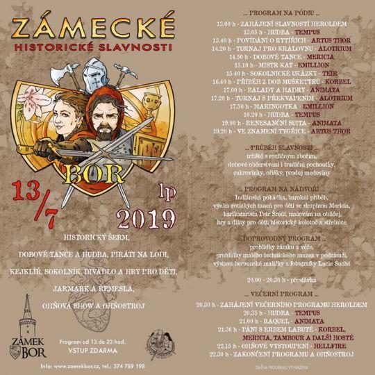 2019-07-13 Zámecké historické slavnosti v Boru 2