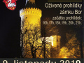 2019-11-09 Oživené prohlídky na zámku v Boru 1