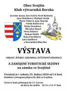 2020-04-25 Vernisáž výstavy Klubu výtvarníků Borska na zámku ve Svojšíně 1