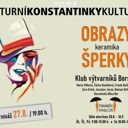 Vernisáž výstavy Klubu výtvarníku Borska 1