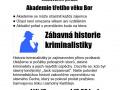 Zábavná historie kriminalistiky 1